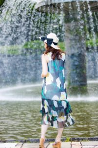 昭和記念公園の日本庭園・噴水
