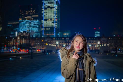 丸の内の代名詞「東京駅」付近でポートレート撮影