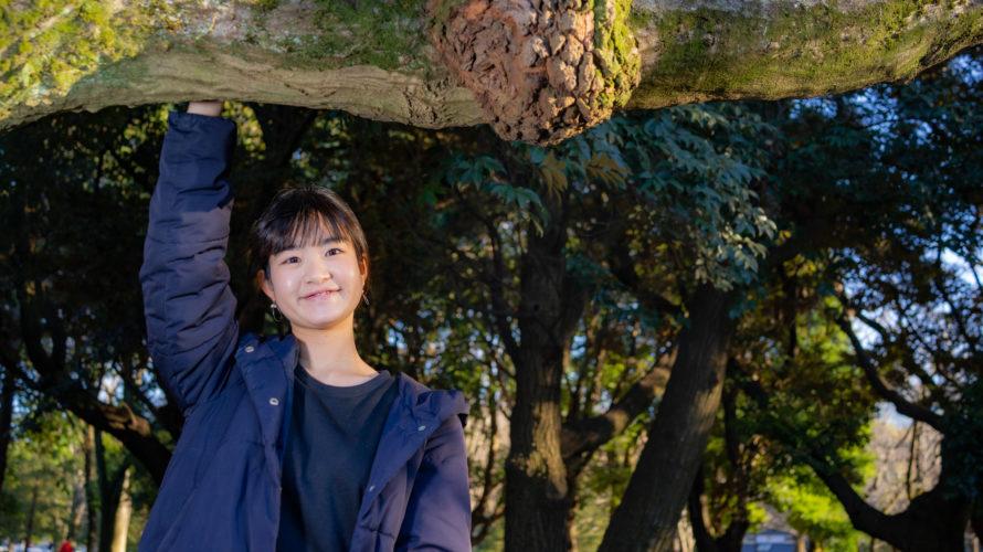 代々木公園でポートレート撮影にご協力いただいたひとみさん