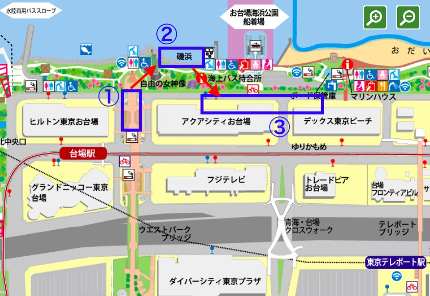 お台場の地図