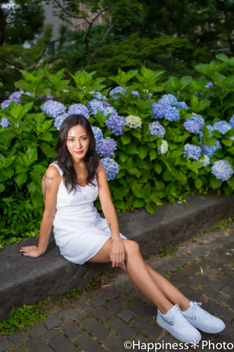 日比谷公園の心字池と第一花壇周辺でポートレート撮影