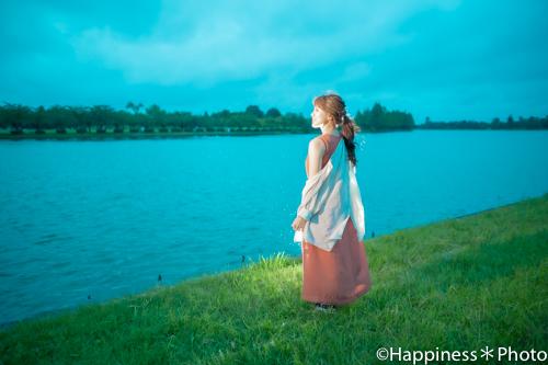 水元公園で日没までの光を味方にポートレート撮影