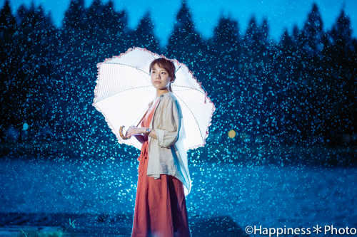 水元公園で雨を味方にポートレート撮影