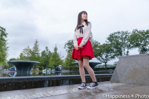 和田倉門噴水公園でポートレート撮影