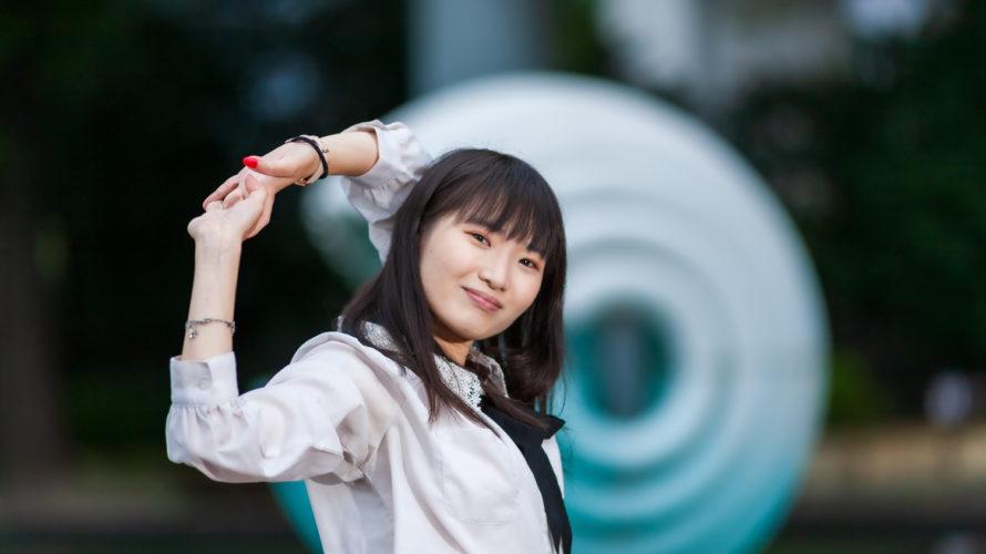 和田倉門噴水公園でポートレート撮影にご協力いただいたAKARIさん